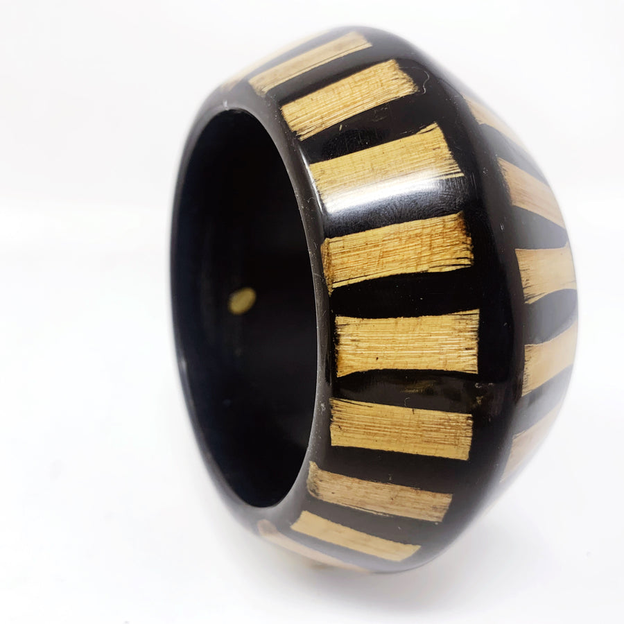 KJL BLACK BAMBOO BANGLE