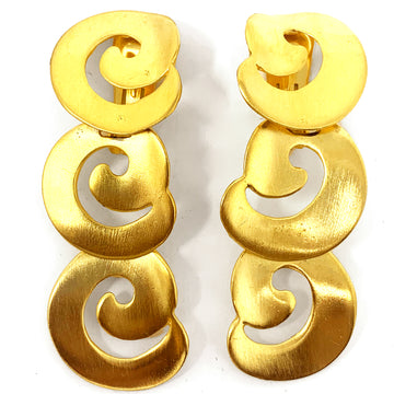 ABSTRACT SWIRL LINEAR EARRING