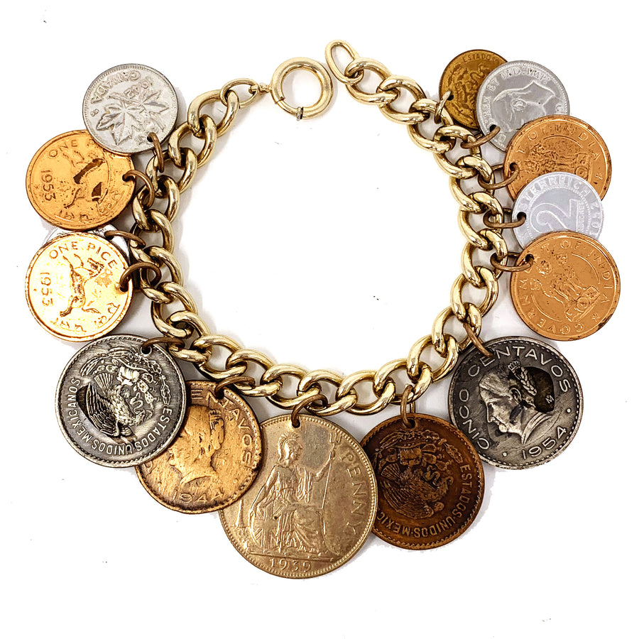 CURRENCY CHARM BRACELET