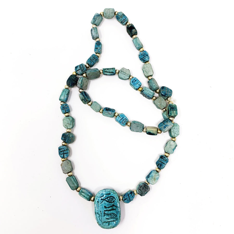 TURQUOISE SCARAB NECKLACE