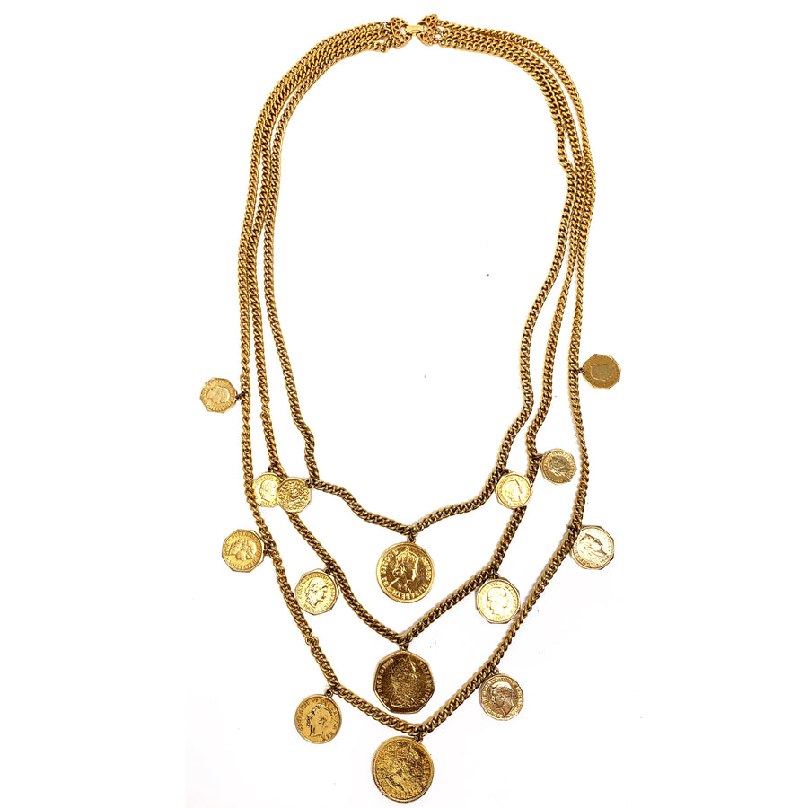LARGE MULTI COIN NECKLACE