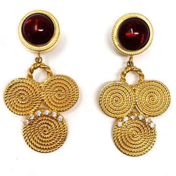 RUBY SWIRL STATEMENT EARRING