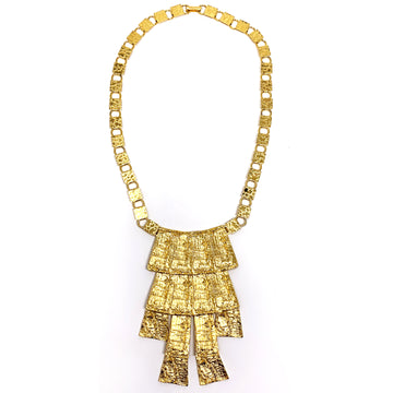 MODERNIST TEXTURED CASCADE NECKLACE
