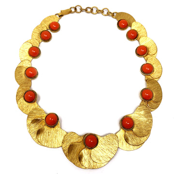 SILVANA CORAL PETAL  NECKLACE