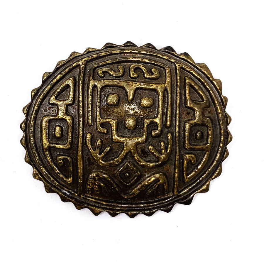 CARVED TRIBAL BROOCH