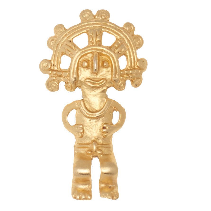 MAYAN WARRIOR BROOCH