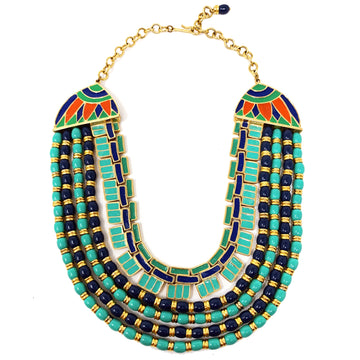 EGYPTIAN REVIVAL COLLAR NECKLACE