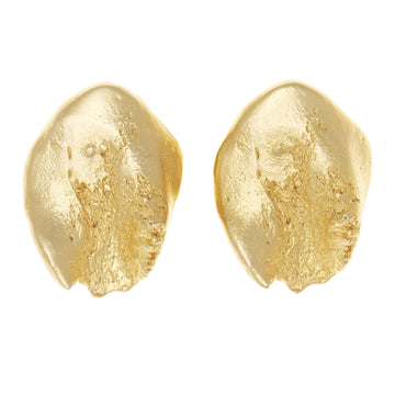 Gold Nugget Clip Earring