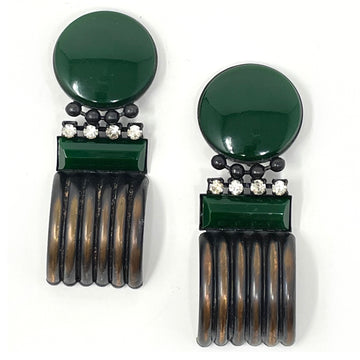 OLIVE TUNNEL EARRINGS