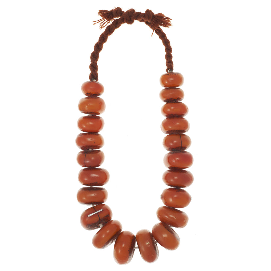 African Amber Resin Necklace
