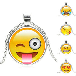 Cute Emoji Pendant Chain Necklace