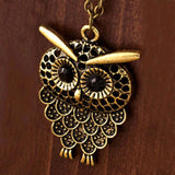 Cute and Trendy Owl Pendant Statement Necklace