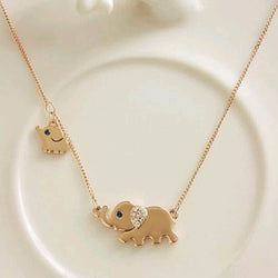 Sweet Mom and Baby Elephant Family Necklace