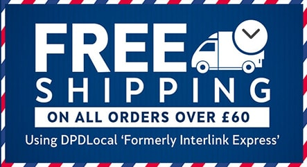 free shipping on orders over £60.00
