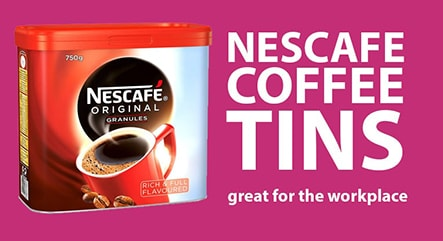 nescafe coffee tins