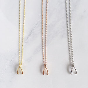 Wishbone Necklace - Sterling Silver