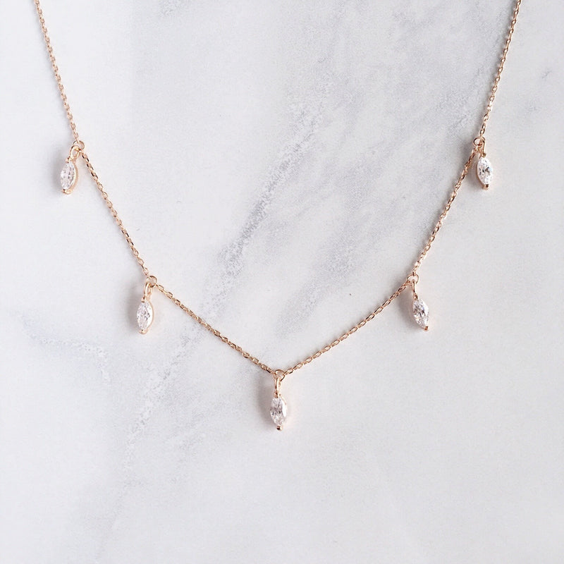 Marquise Necklace - Sterling Silver