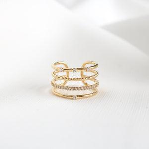 Palm Line Ring