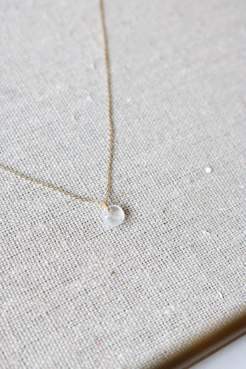 Rainbow Moonstone Necklace - Sterling Silver