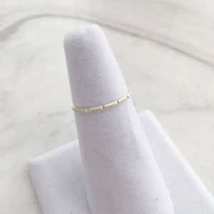 Notched Ring - Sterling Silver