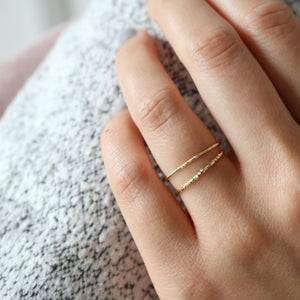 Yves Ring - Sterling Silver (Gold)