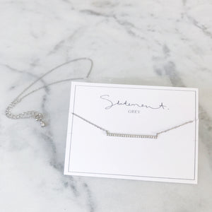 Barre Necklace - Sterling Silver