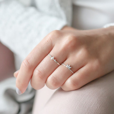 Beaded Cross Ring