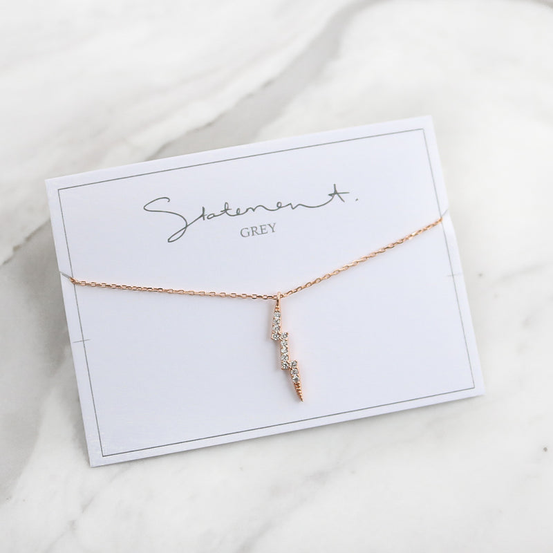 Lightning Necklace - Sterling Silver