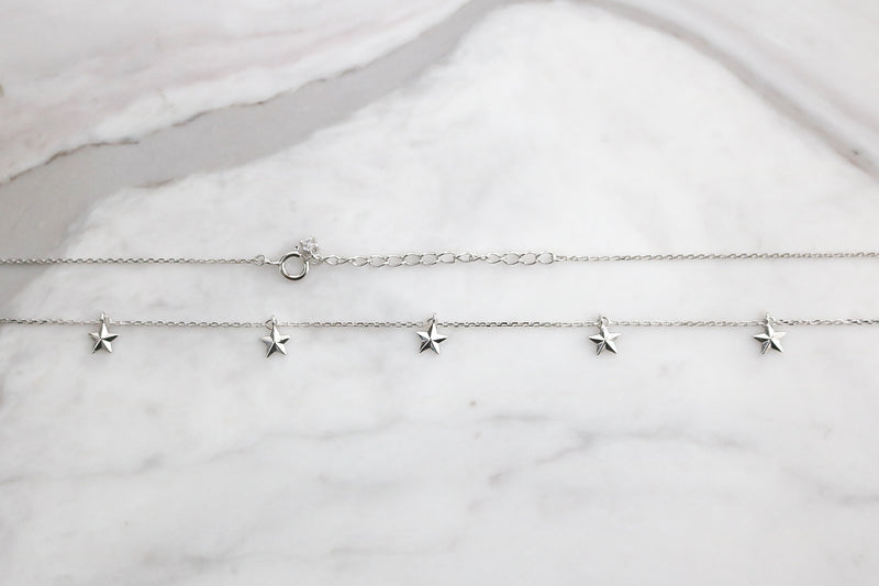 5 Star Necklace - Sterling Silver