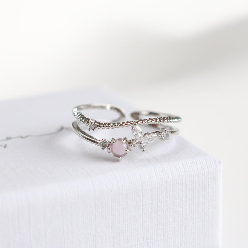 Blush Butterfly Ring