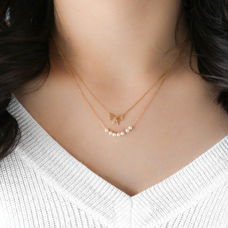 Bow Necklace - Sterling Silver