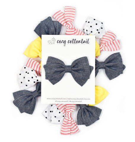 May + June 2019 Bows   Cozy Cottontail