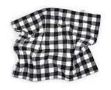 3-Layer Plush Minky Blanket | Black + White Buffalo Plaid