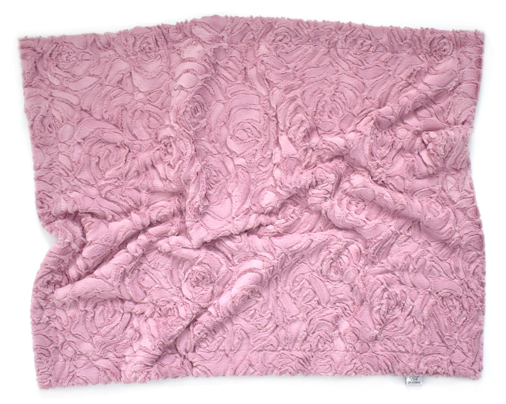 Luxe Cuddle Rose Minky Blanket | Woodrose - Cozy Cottontail