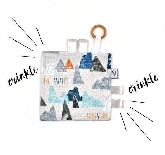 Crinkle Taggy | Adventure Awaits - Cozy Cottontail