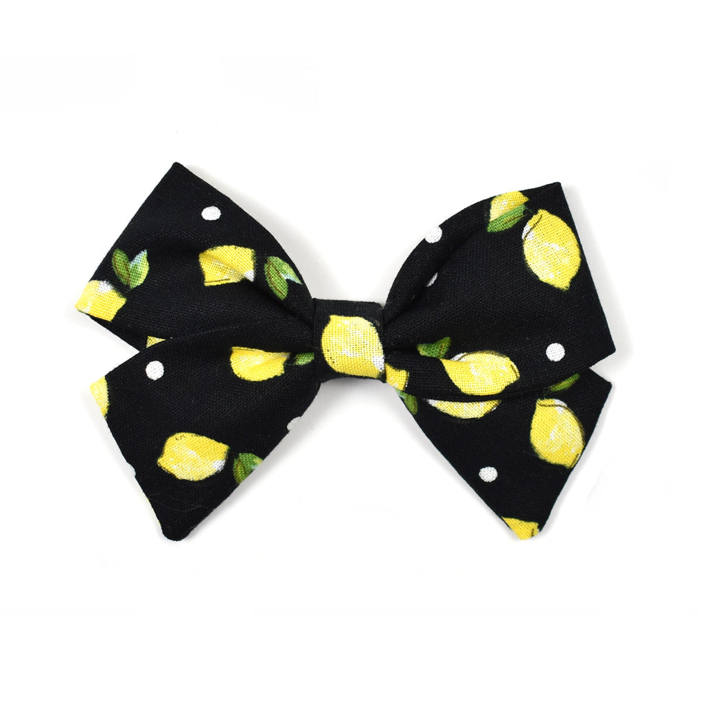 Lilly Bow | Black Lemons - Cozy Cottontail