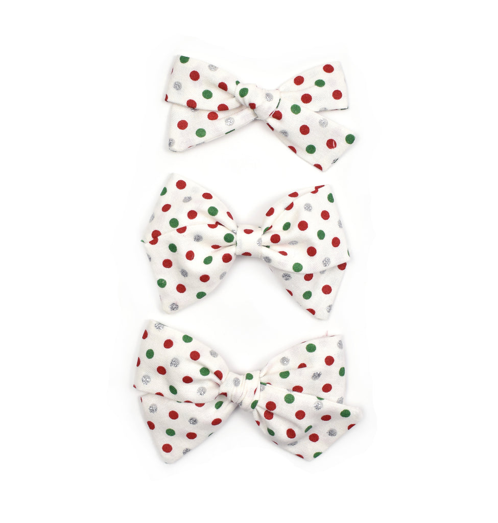 Christmas Polka Dot Bows - Cozy Cottontail