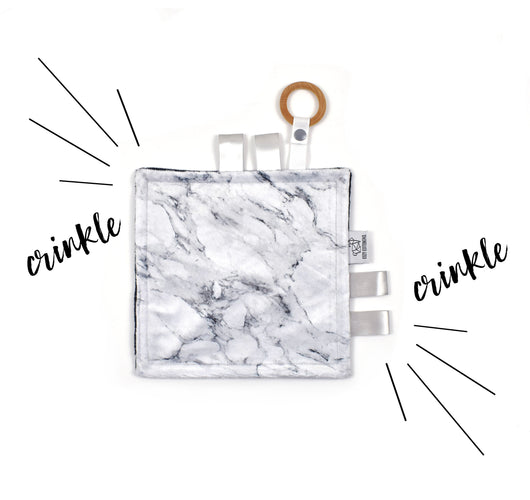 Crinkle Taggy | Marble - Cozy Cottontail
