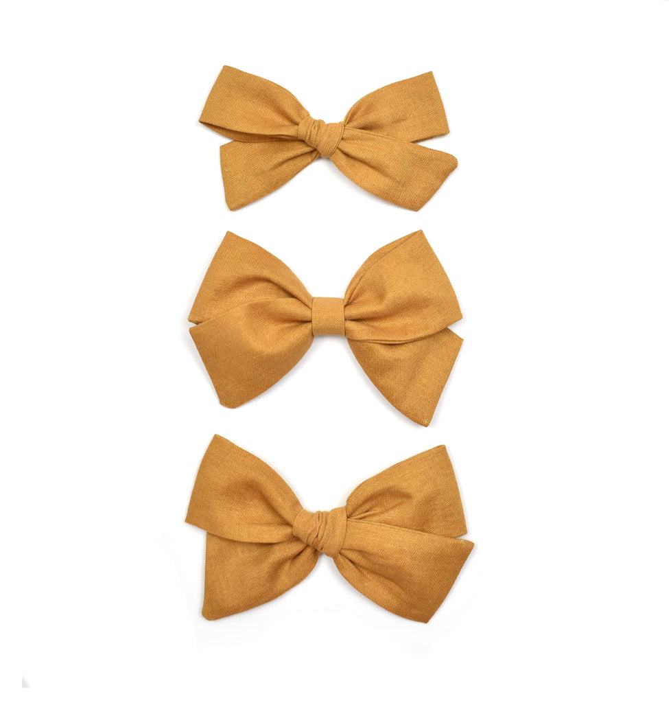 Burnt Mustard Bows - Cozy Cottontail