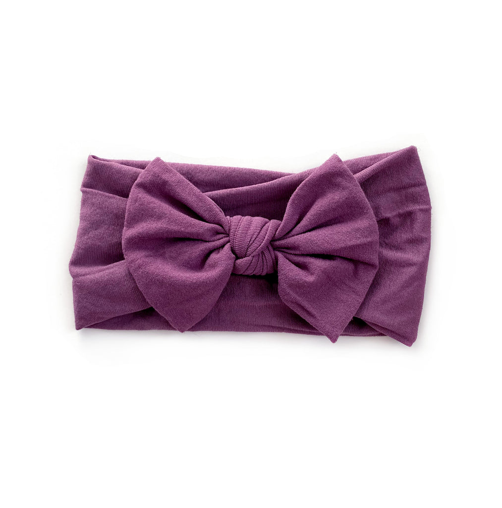 Nylon Headband | Plum - Cozy Cottontail