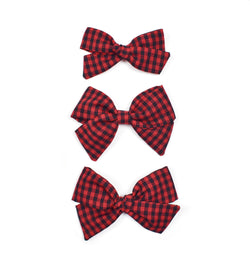 Red + Black Gingham Bows
