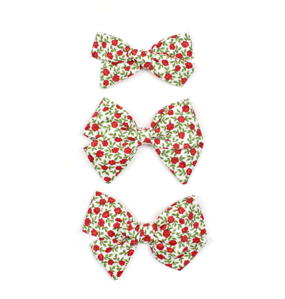 Red Rosette Bows - Cozy Cottontail