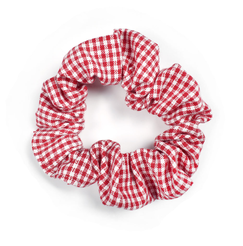 Hair Scrunchie | Red Gingham - Cozy Cottontail
