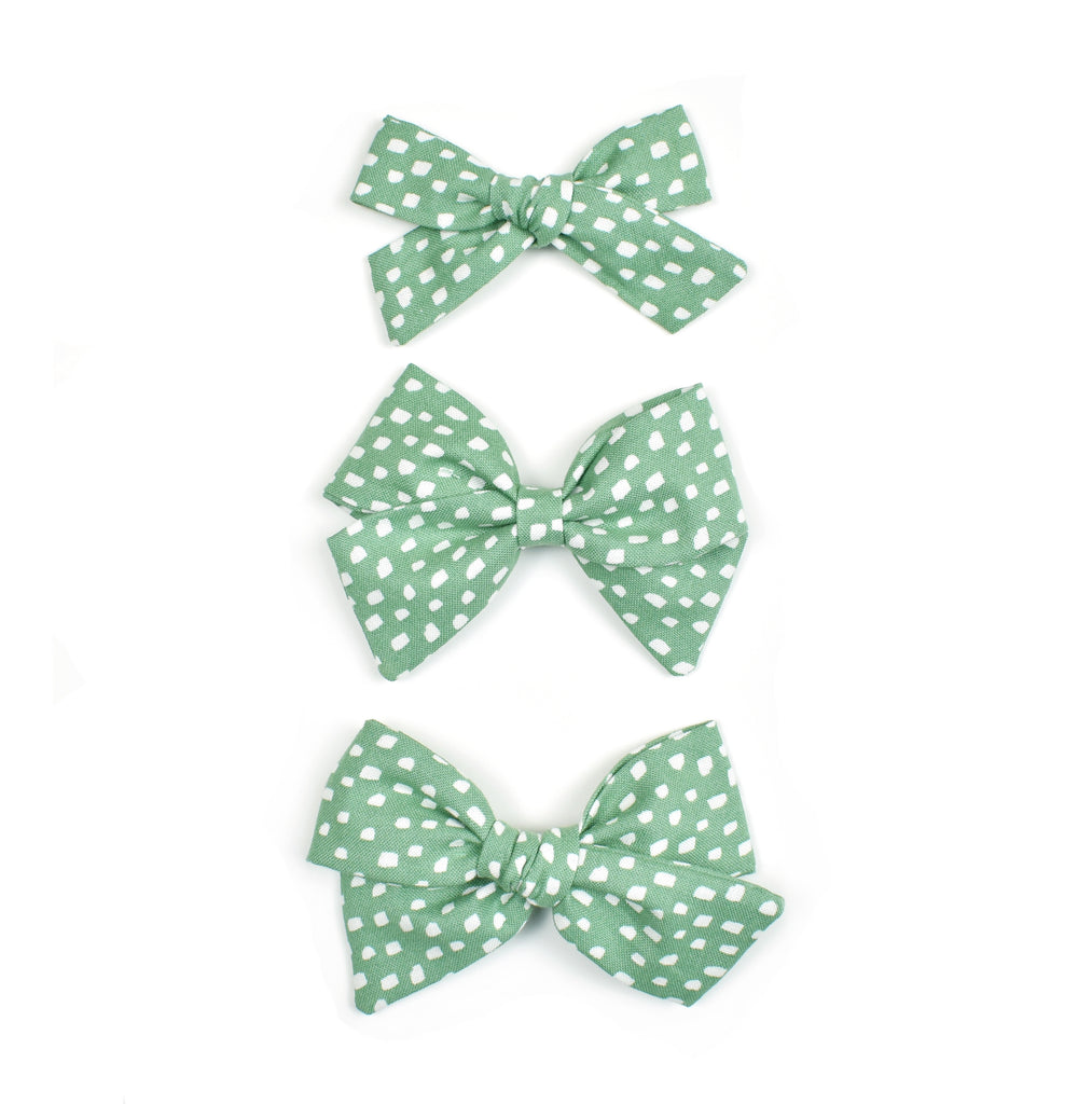 Sea foam Green Dots - Cozy Cottontail