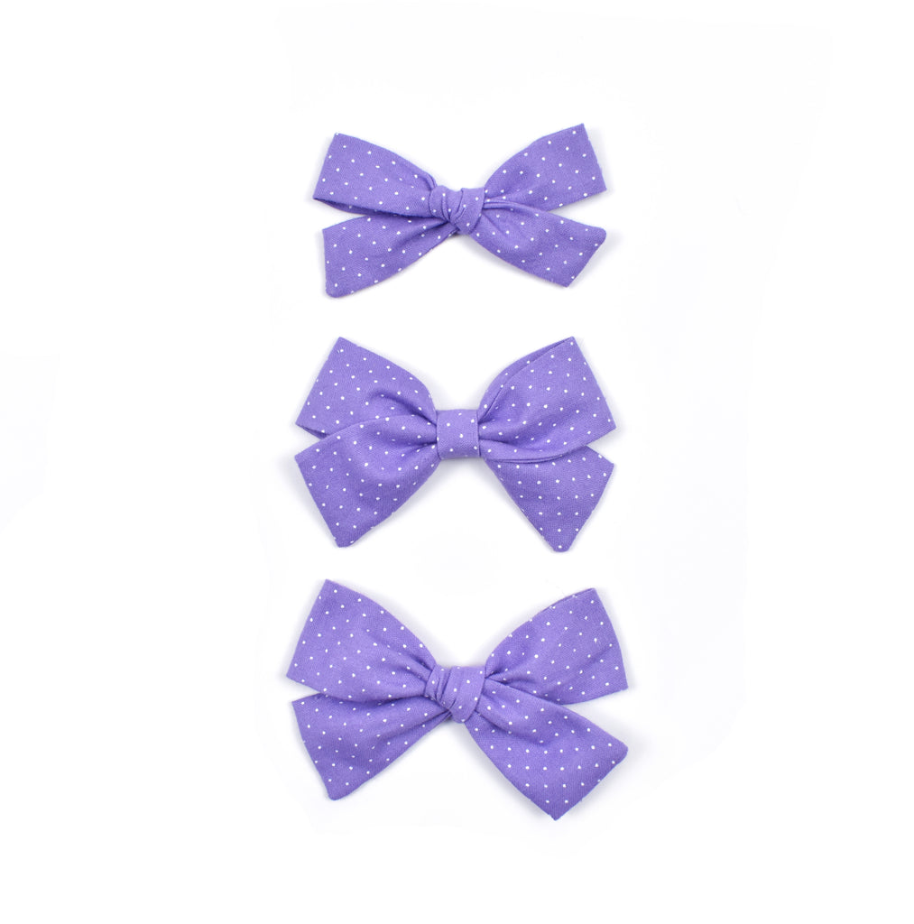 Purple Polka Dot - Cozy Cottontail