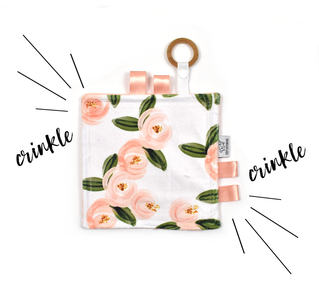 Crinkle Taggy | Watercolor Rosettes - Cozy Cottontail