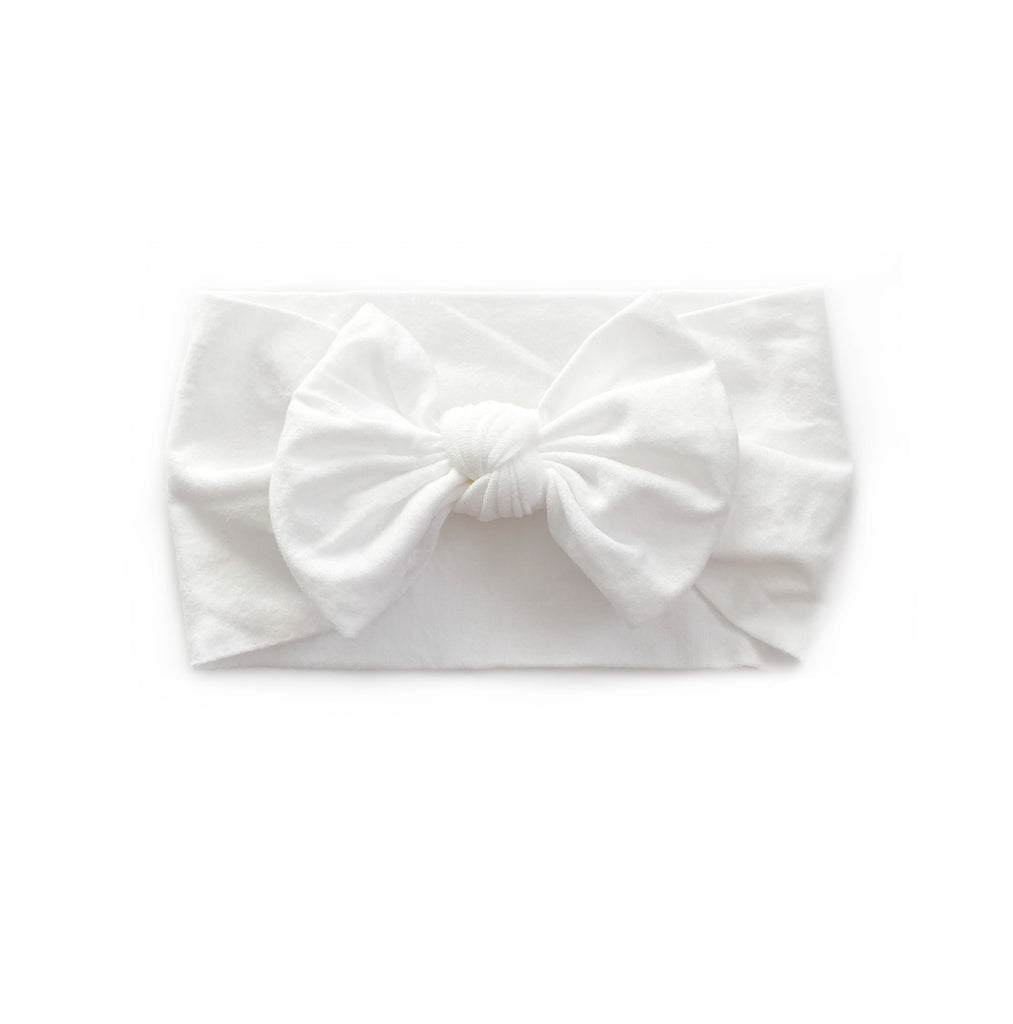 Nylon Headband | White - Cozy Cottontail