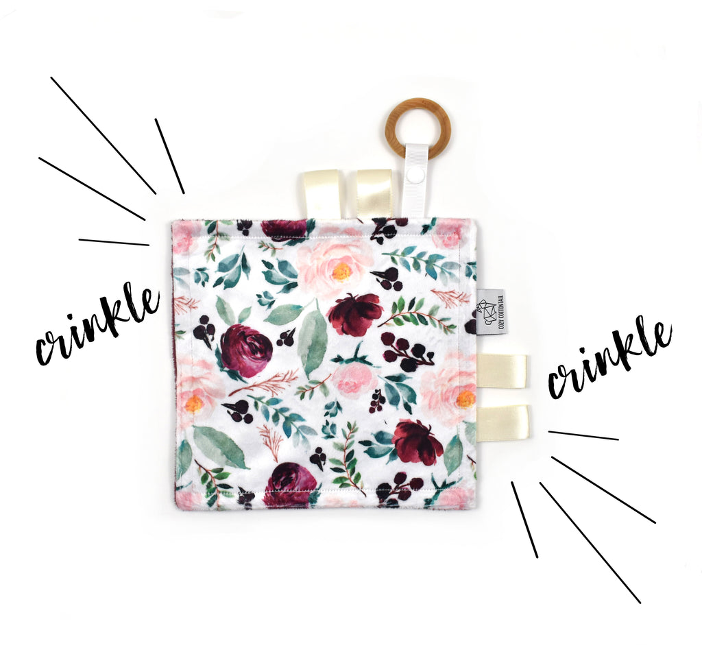 Crinkle Taggy | Wild at Heart Floral - Cozy Cottontail