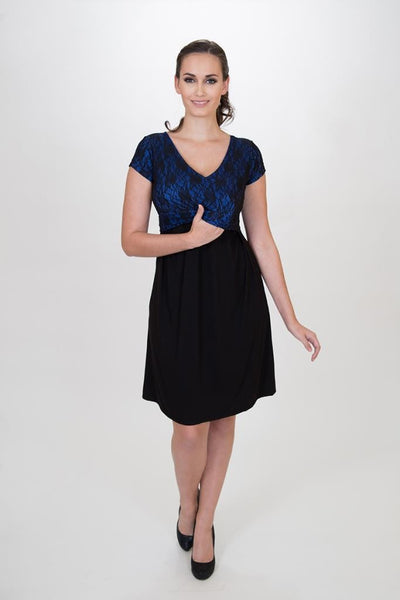 Camila dress - Special occasion maternity and Breastfeeding dress - Made in Canada - Nurture-Elle Nursing Apparel  - 2