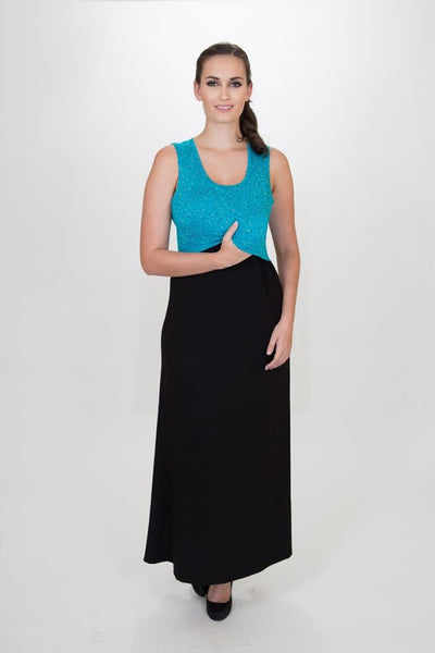 Mariana Maxi dress - dots - Made in Canada - Nurture-Elle Nursing Apparel  - 2